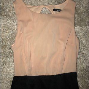 Ark & Co Blush pink & Black color block dress M